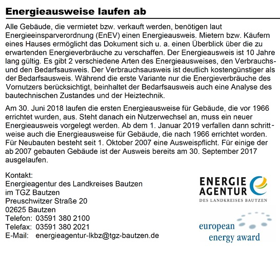 Info Energieausweise